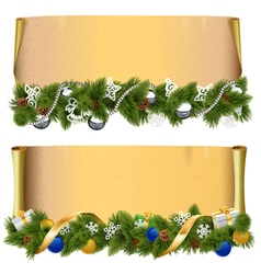 Christmas scroll set 2 vector