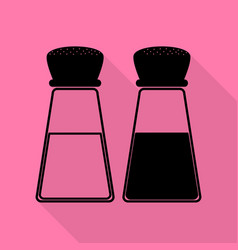 Salt and pepper sign black icon with flat style vector