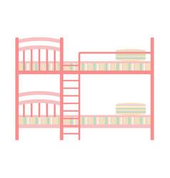 Exclusive sleeping furniture design bedroom bunk vector