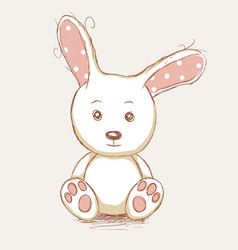 Cute toy rabbit vector