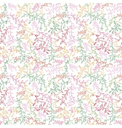 Floral seamless pattern with leaf vector