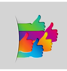 Like and Thumbs Up symbol Abstract background vector image