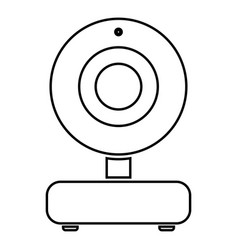 Web camera black color icon vector