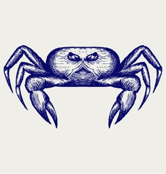 Crab sketch vector
