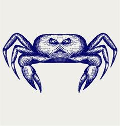 Crab sketch vector image