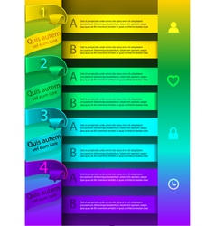 Bright colorful template infographics vector