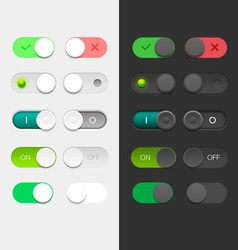 Round switchers set vector