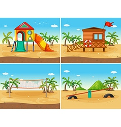 Beach and playground vector