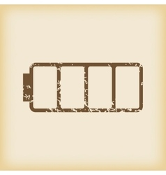 Grungy empty battery icon vector