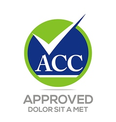 Logo approved icon acc concept vector