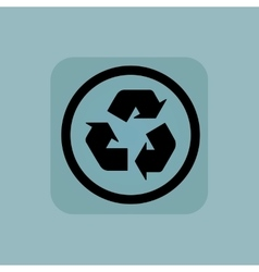 Pale blue recycle sign vector