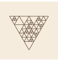 Hipster triangle linear background vector