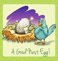 Idiom good nest egg vector