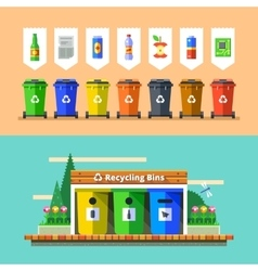 Waste management and recycle concept flat vector