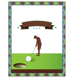 Blank golf flyer vector