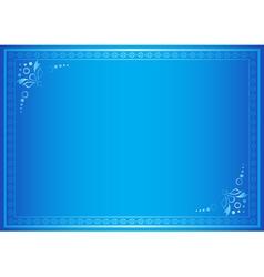 blue elegant frame with gradient vector image