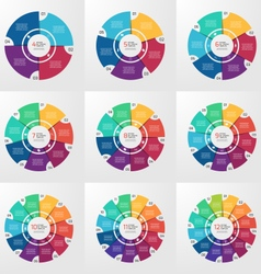 circle infographic set 4 12 options vector image