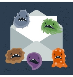 Abstract email spam virus infection vector