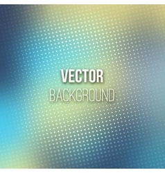 Blue blurred background with halftone effect vector