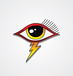 Bolt lightning eye symbol theme vector