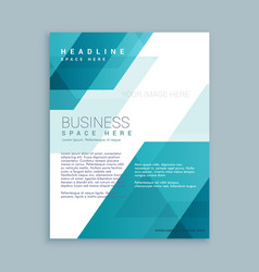 Business brochure with abstract shapes vector