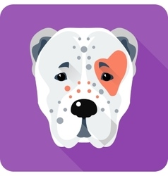 Central asian shepherd dog icon flat design vector