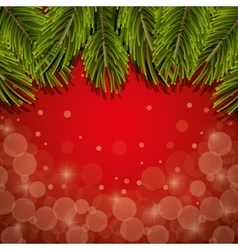 Christmas pine leaves background vector