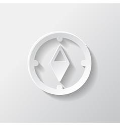 Compass web icon vector