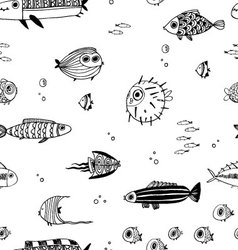 Cute summer fishes vector