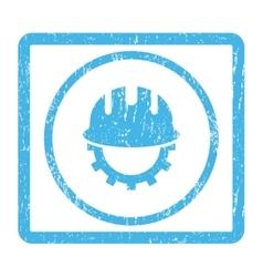 Development hardhat icon rubber stamp vector