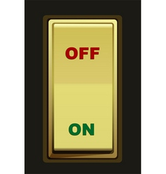 electric switch vector image vector image