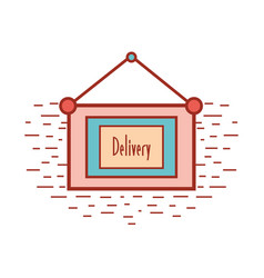 Emblem notice of delivery services vector