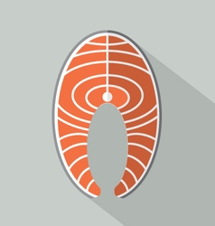 Flat Design Salmon Icon vector image