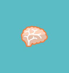 Flat icon brain element of vector