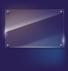 Glass frame with rivets vector