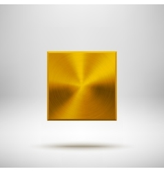 Gold abstract rhombic button template vector