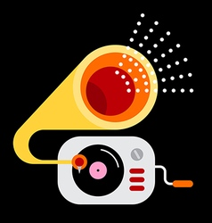 Gramophone icon color vector