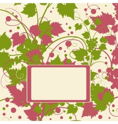 Grape background frame vector image vector image