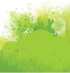 green card rabbits vector image
