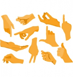 Hand silhouettes vector