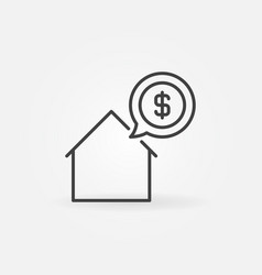 house price icon vector image vector image