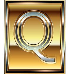 Ingot font letter q vector