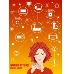 Internet of things design concept vector image