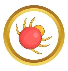 Mite parasite icon vector
