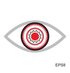 Red Eye Icon vector image