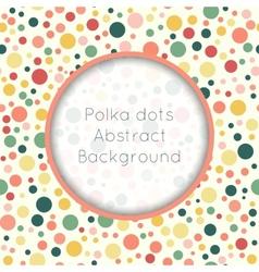 Seamless pattern stylish colorful vintage polka vector image
