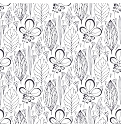 Seamless pattern with ethnic leaves vector
