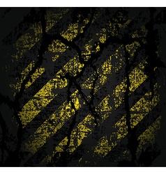 Square texture cracked asphalt of old worn black vector