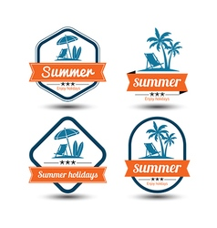 Summer label 2 vector image vector image