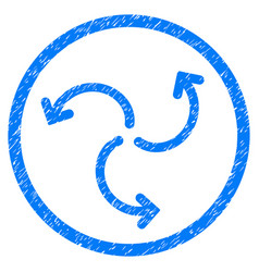Turbine rotation rounded grainy icon vector